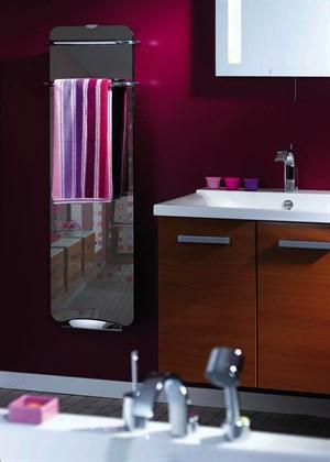 Koupelnový skleněný sálavý panel Campaver Bains - zrcadlový